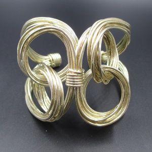 Vintage Unique Handmade Wire Wrapped Cuff Bracelet